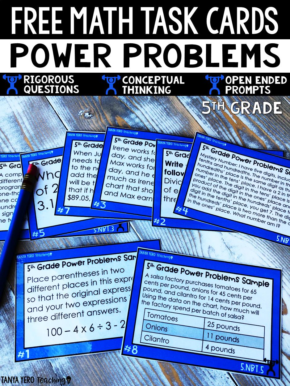 The POWER Math Line is an assortment of math task cards, math