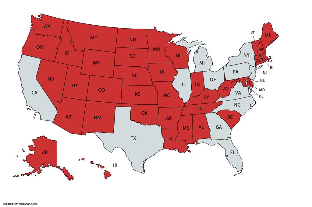 Map created with mapchartnet u2026 New York