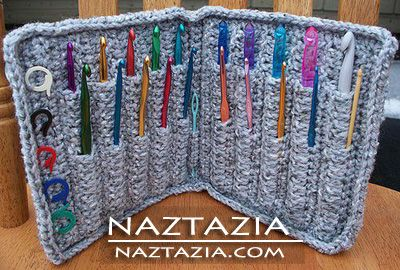 Crochet hook holder case--I need one of these.  Uh...maybe 2 or 3!