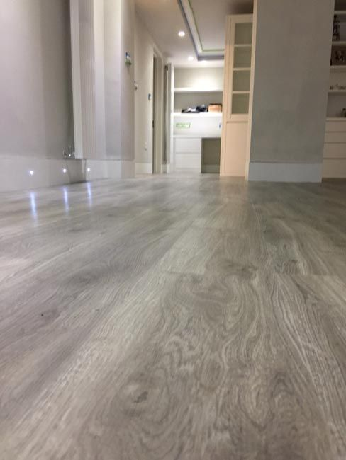Amtico Grey Wood Flooring To Premises In South London Floor In