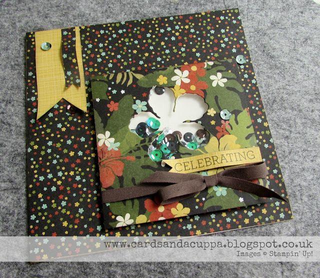 Sarah-Jane Rae cardsandacuppa: Stampin' Up! UK Order Online 24/7: Five Days of Botanical Blooms. Day 5: Botanical Gardens DSP Shaker Card