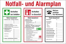 Alarmplan Aushang Zum Download Universum Shop