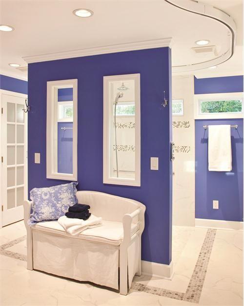 Light Transitional Bathroom by Sandra Gaylord on HomePortfolio