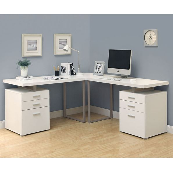 Carey White Modern L Desk Home Office Design White Corner Desk L Shaped Corner Desk
