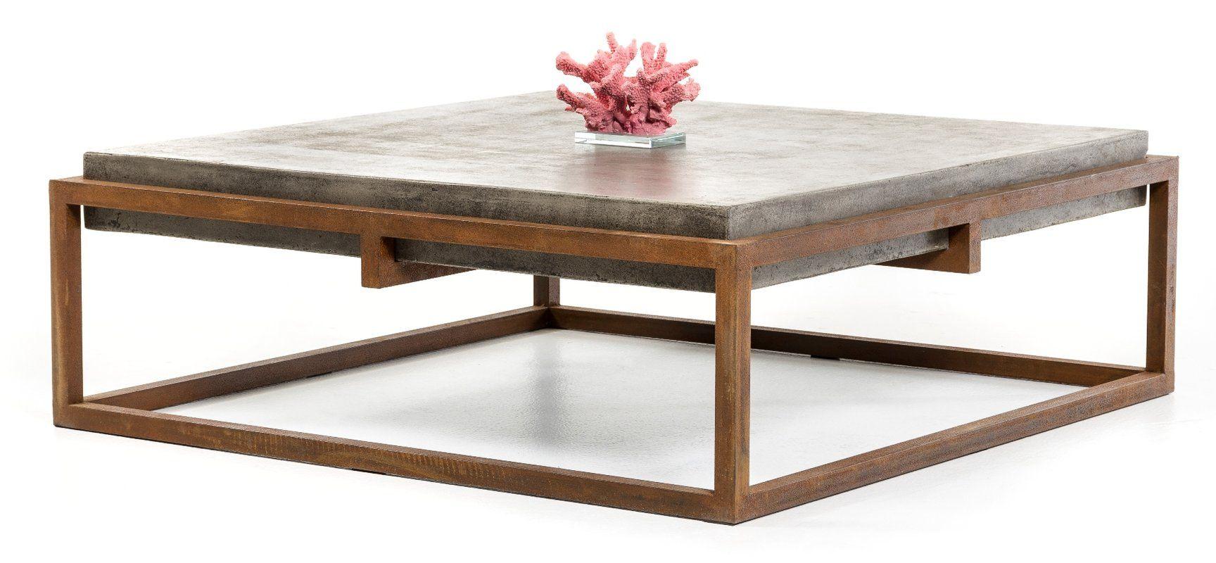 Tabetha Coffee Table Concrete Coffee Table Modern Square Coffee