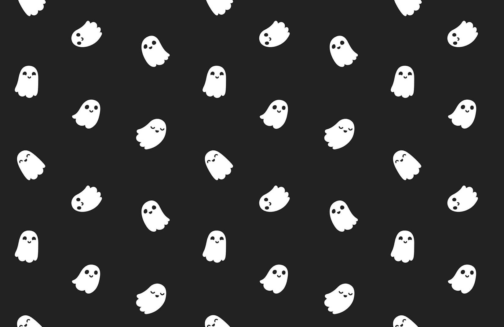 Little Ghost Wallpaper Mural With Images Halloween Desktop