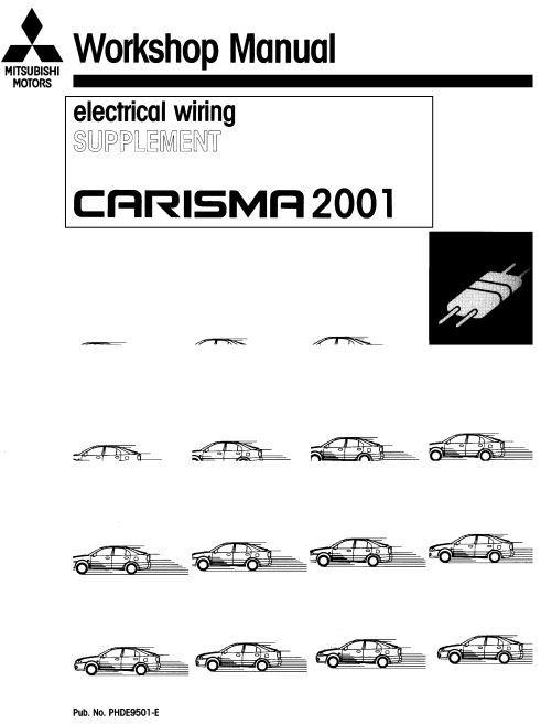 Mitsubishi Carisma 2001 Electrical Wiring Supplement  No  Phde9501