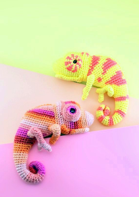 Chameleon Crochet Pattern Amigurumi Chameleon Pattern Chameleon