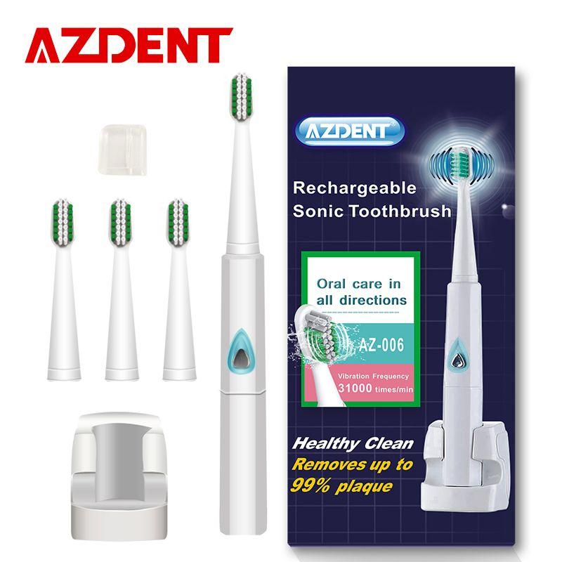 Azdent 110ボルトの220ボルト充電式sonic電動歯ブラシワイヤレス