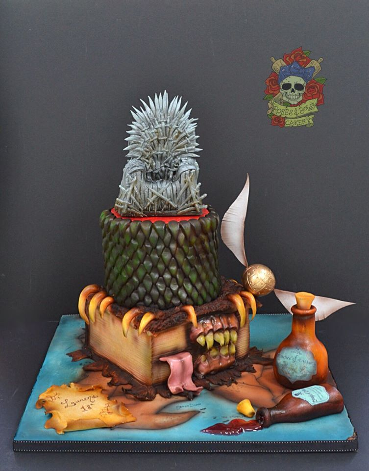 Game Of Thrones Harry Potter Cake By Roses And Bows Cakery