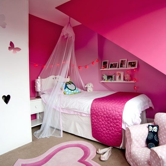 Exceptional Girlu0027s Hot Pink Bedroom | Colourful Modern Family Home | Housetohome.co.uk Home Design Ideas