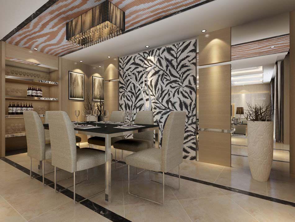 Glass Mosaic Tile Pattern Crystal Backsplash Dining Room Wall Brilliant Mosaic Dining Room Table Decorating Design