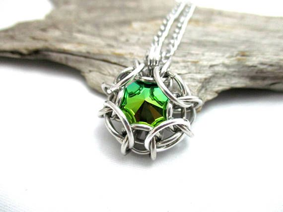 Swarovski crystal pendant phaedra chainmaille pendant swarovski crystal pendant phaedra chainmaille pendant swarovski crystal chainmail pendant scarabaeus green mozeypictures Image collections