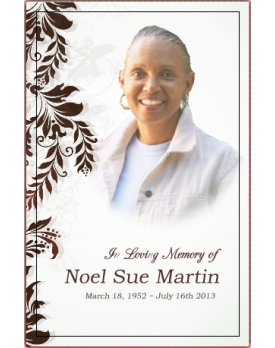 Floral Edge Template Front Panel   Funeral Template   Memorial ...