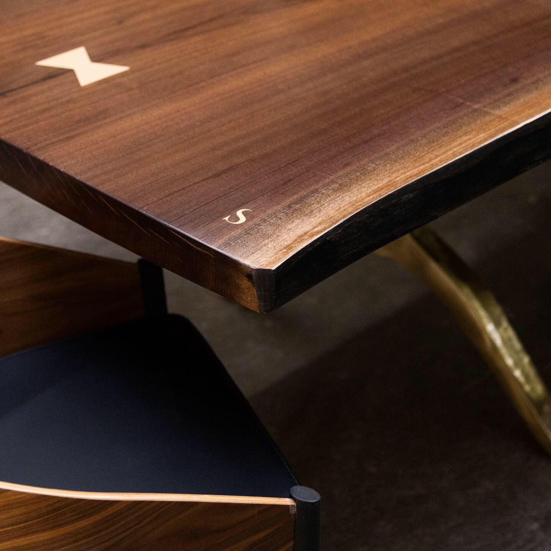 Live Edge Tables With Solid Walnut Maple Oak Slabs Walnut