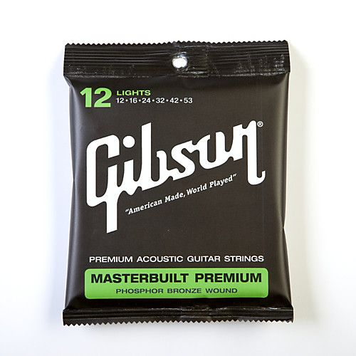GibsonSAG-MB12 Masterbuilt Premium Phosphor Bronze Acoustic Guitar Strings #electricguitars