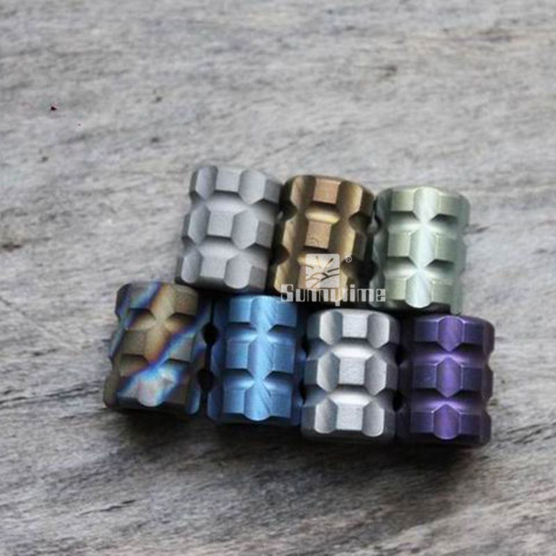 Free shipping EDC colorful series of titanium alloy knife C pendant outdoor umbrella rope knife mobile phone