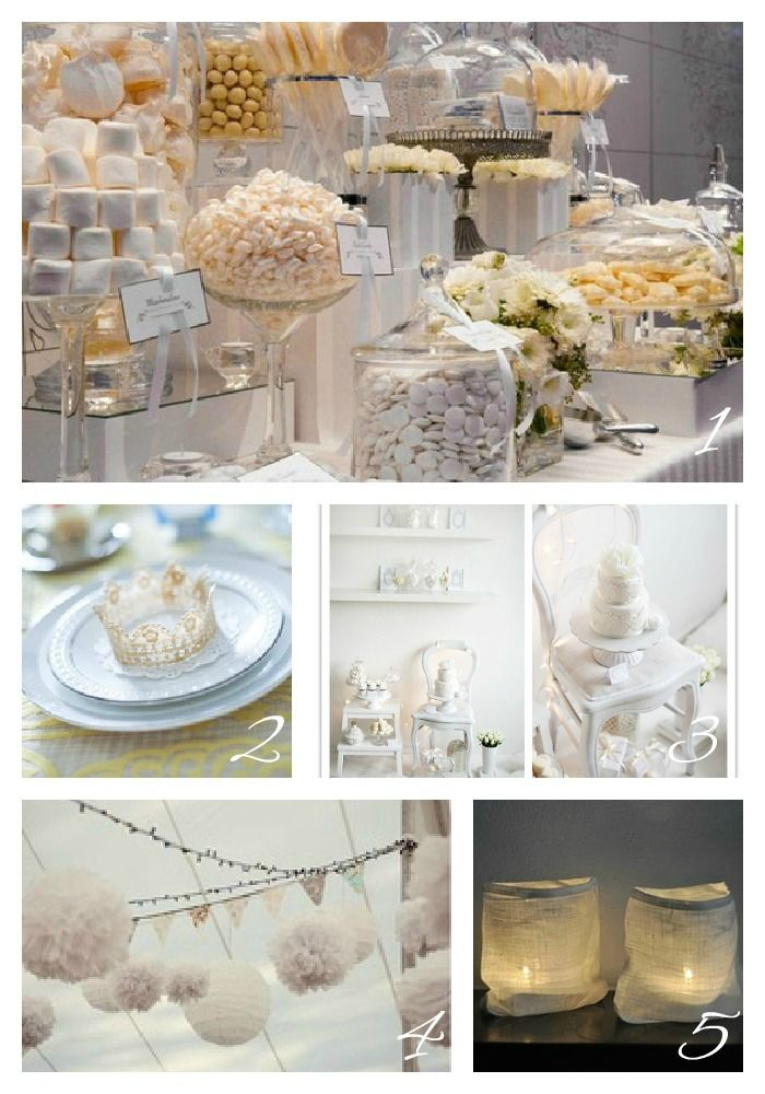 White theme party on pinterest white parties white for All white party decoration ideas
