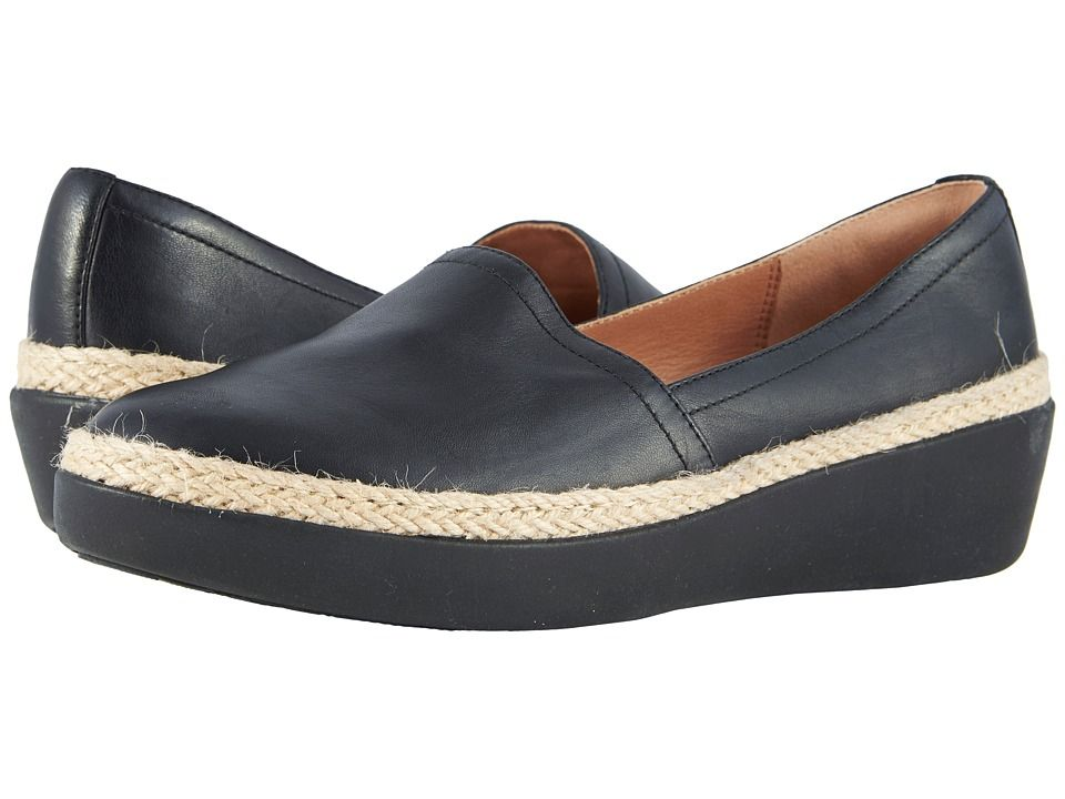 b546a952311164 FitFlop Casa Loafers Women s Slip on Shoes Black