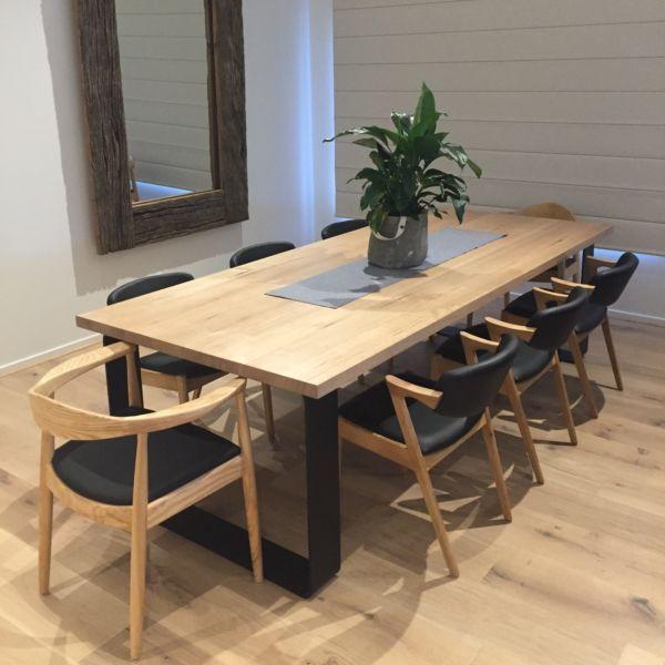 KING DINING TABLE METAL LOOP LEGS ROUNDED CORNERS | Dining Tables | Gumtree  Australia Kingston Area