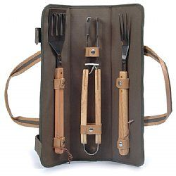 Skewer Dark Brown Bbq Tool Bag