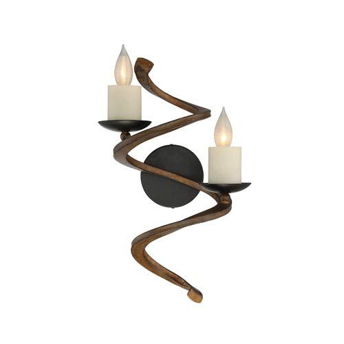 Napoli Durango Bronze Two Light Sconce Savoy House 2 Light Armed Candle Wall Sconces
