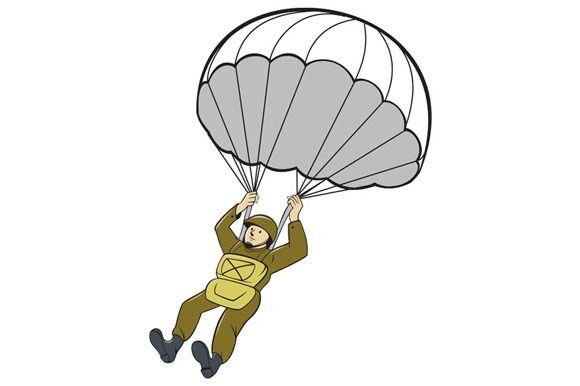 cartoon clipart parachute - photo #16