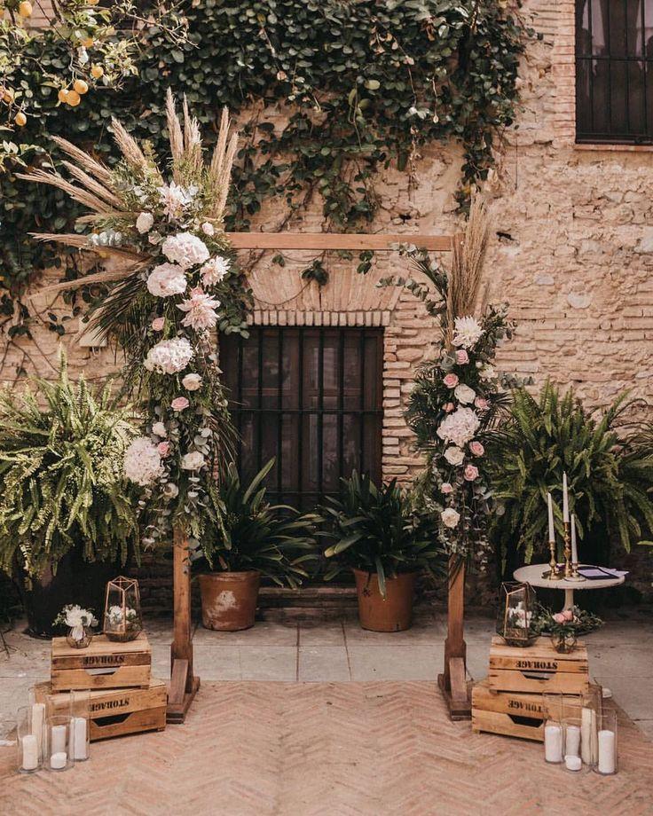 altar boda decorado flores
