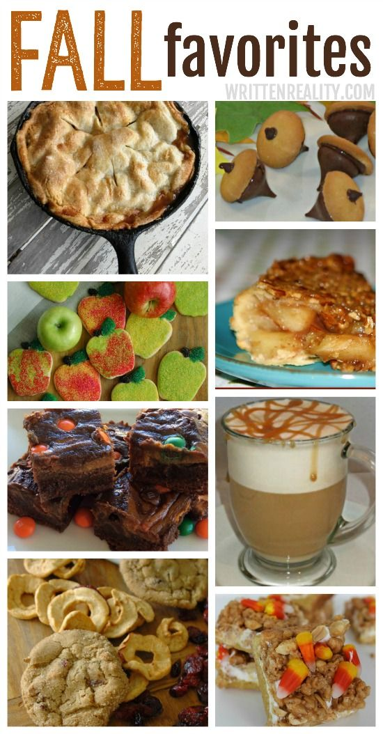 Fall Favorite Desserts  {writtenreality.com}
