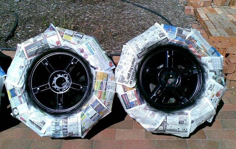 Wheels For All Cars Chrome Spray Paint Gloss Black Rims