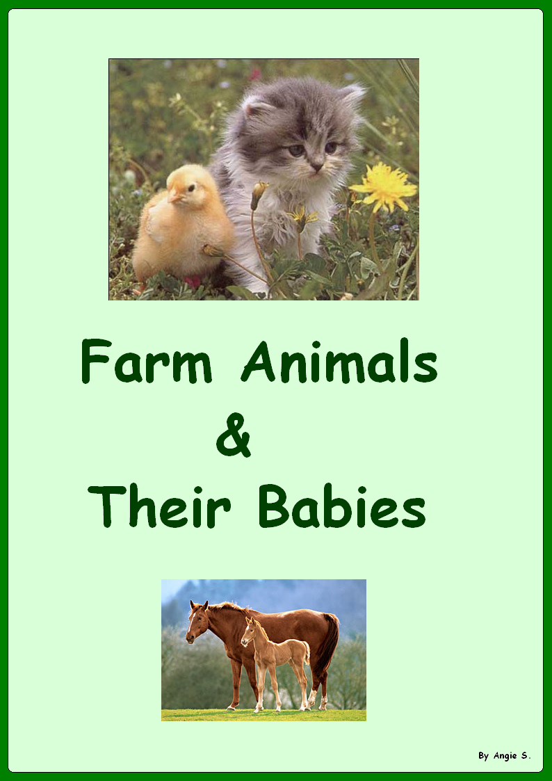 Autism & Special Needs. Adapted Book: Farm Animals & Their Babies