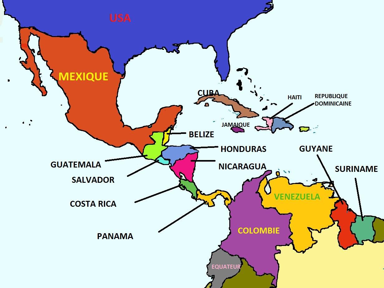 Carte Amerique Du Sud Et Amerique Centrale.Resultat De Recherche D Images Pour Carte Amerique Centrale
