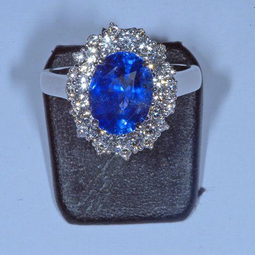 Bien connu Bague marguerite saphir naturel non chauffé et diamants | Jewelry  ML26