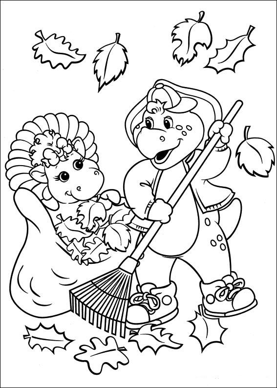 Barney and friends Coloring Pages 8 | Harper Jean | Pinterest