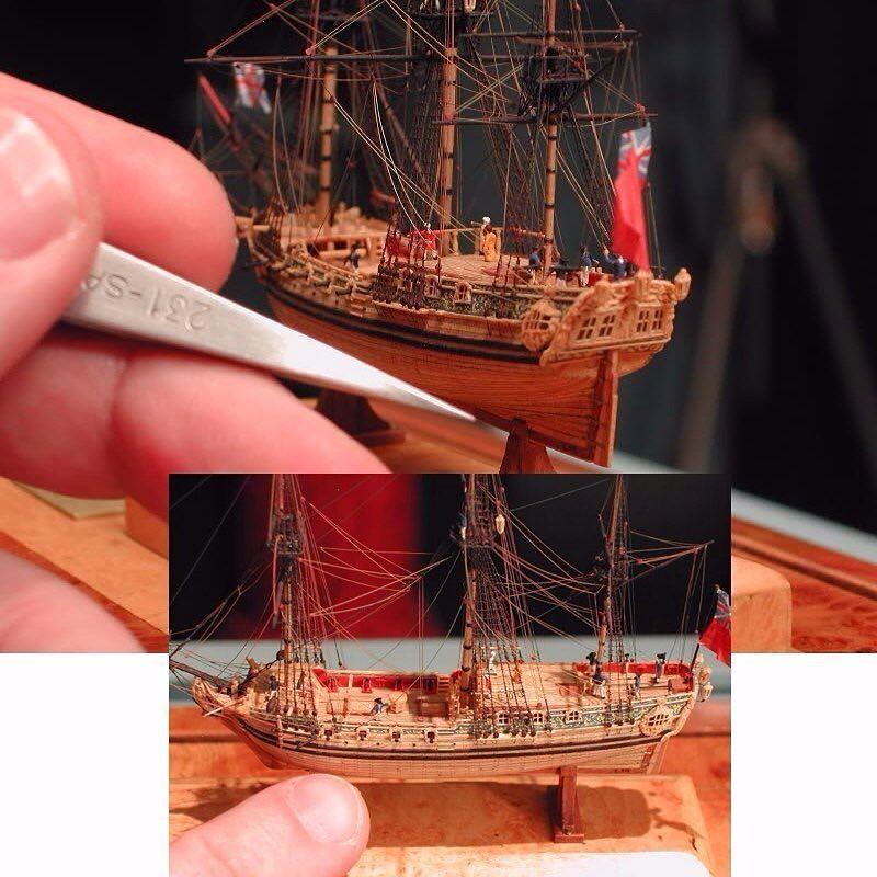Miniature ship model By: Lloyd McCaffery From: practicalmachinist  #ship #navio #miniatura #scale #minature #miniatur #miniatura #barco #boat #details #detalhes #miniart #arte #miniarte