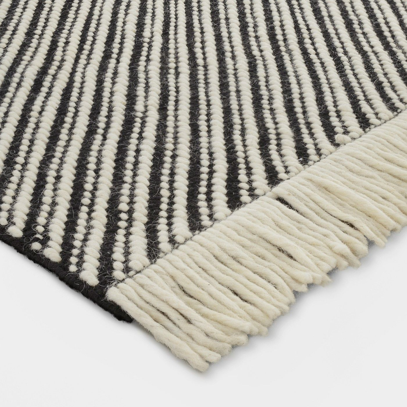Black White Zig Zag Woven Area Rug 7 X10 Project 62 In