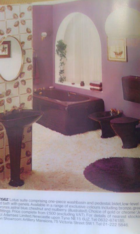 Purple Bathroom As They Were Purple Bathrooms Vintage Bathrooms Design
