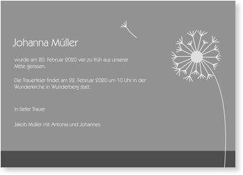 einladung trauerfeier, abschied - pusteblume | karten | pinterest, Einladungen