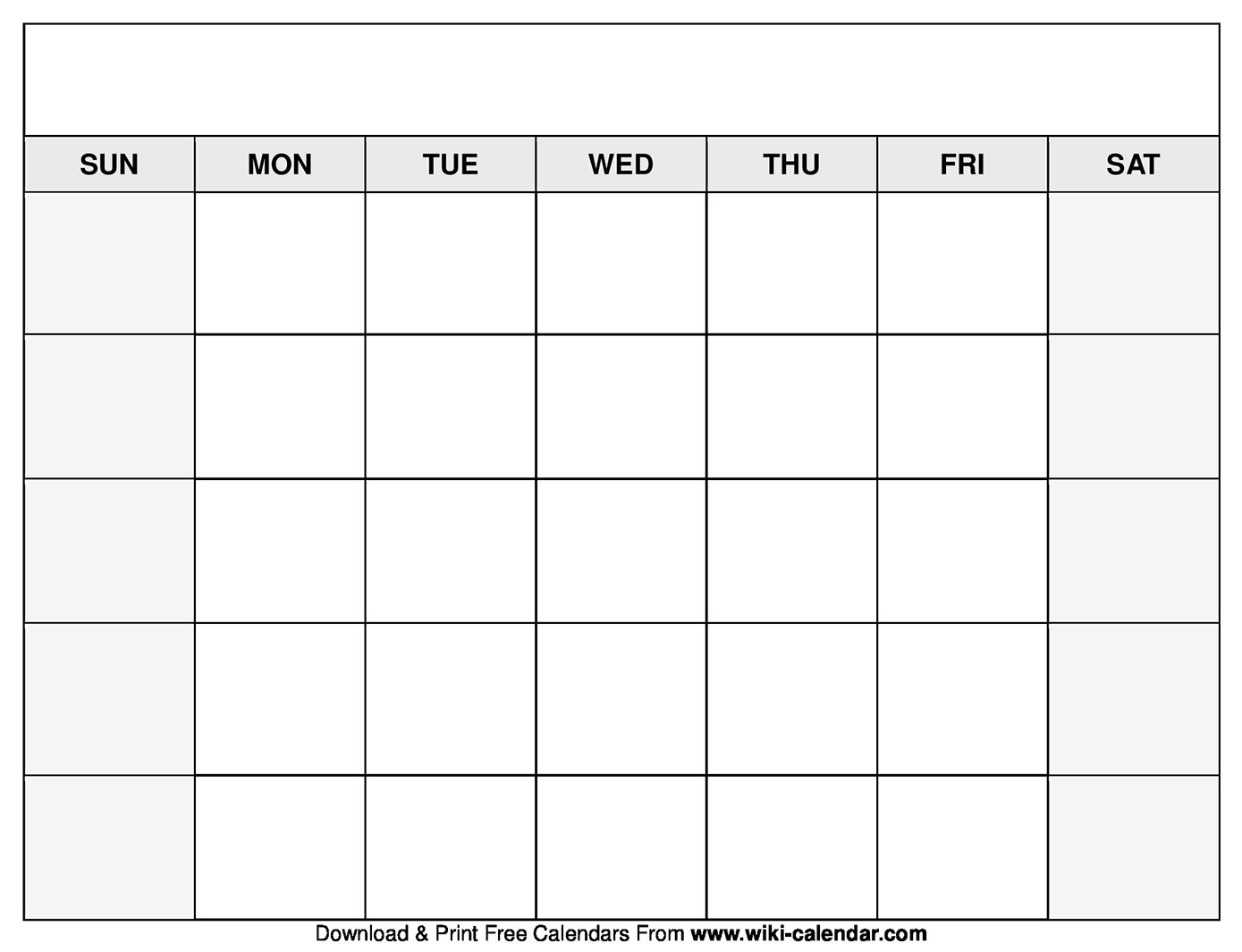 Portrait) on one page in easy to print pdf format. Printable Blank Calendar   Blank calendar pages, Free ...