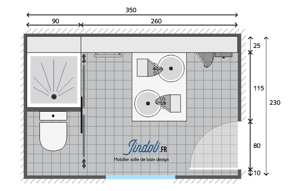 Exemple plan de salle de bain de 9m2 | Plans pour grandes salles de ...