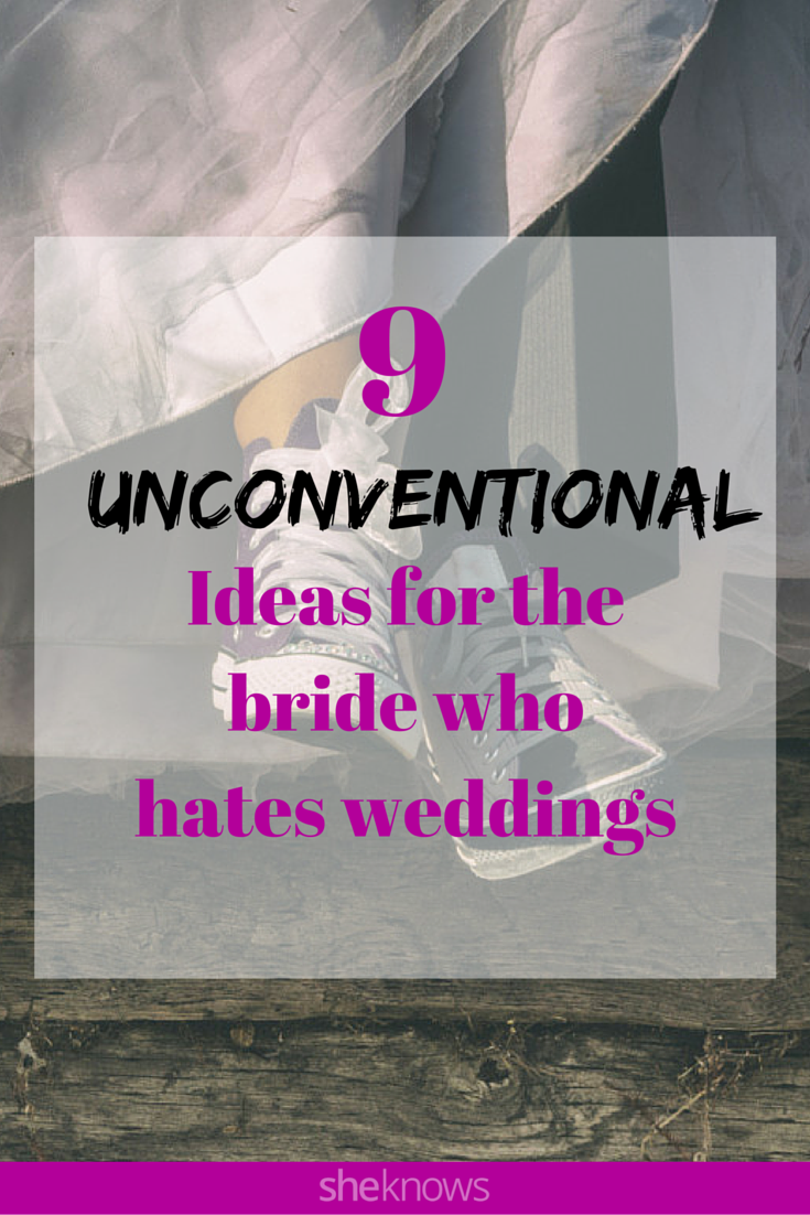Totally adorable and unconventional ideas for the bride who hates