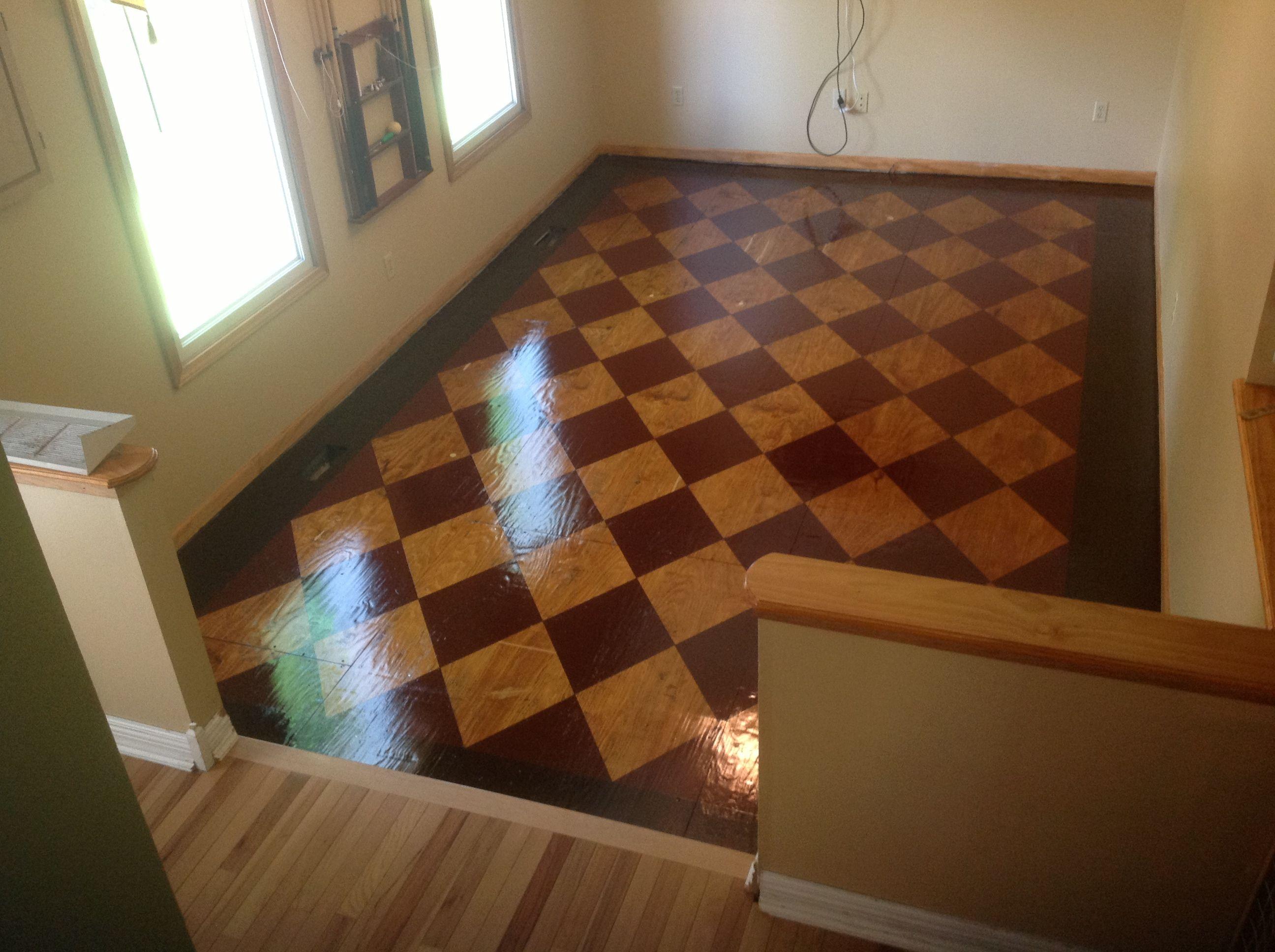 Stained Plywood Floor In 2019 Plywood Flooring Diy