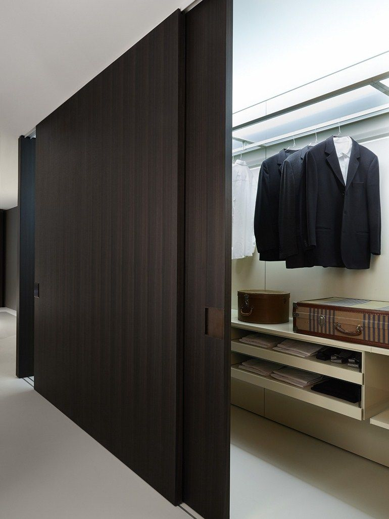 Wooden partition wall shift by porro design decoma for Sliding door partition wall