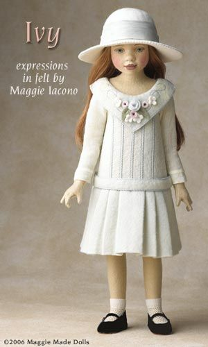 Ivy  Maggie has designed Ivy in an all felt outfit representing the most genteel of little girls.