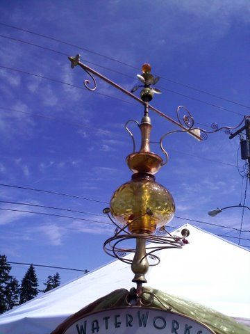 old lamp pieces glass weather vanes by douglas walker sculpture