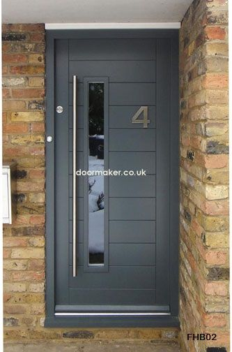 Contemporary Front Door Grey Contemporary Front Doors Composite