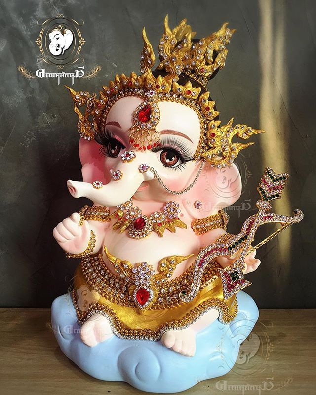 Love you Ganpati Bappa   Cute Baby Ganpati   Ganesha art