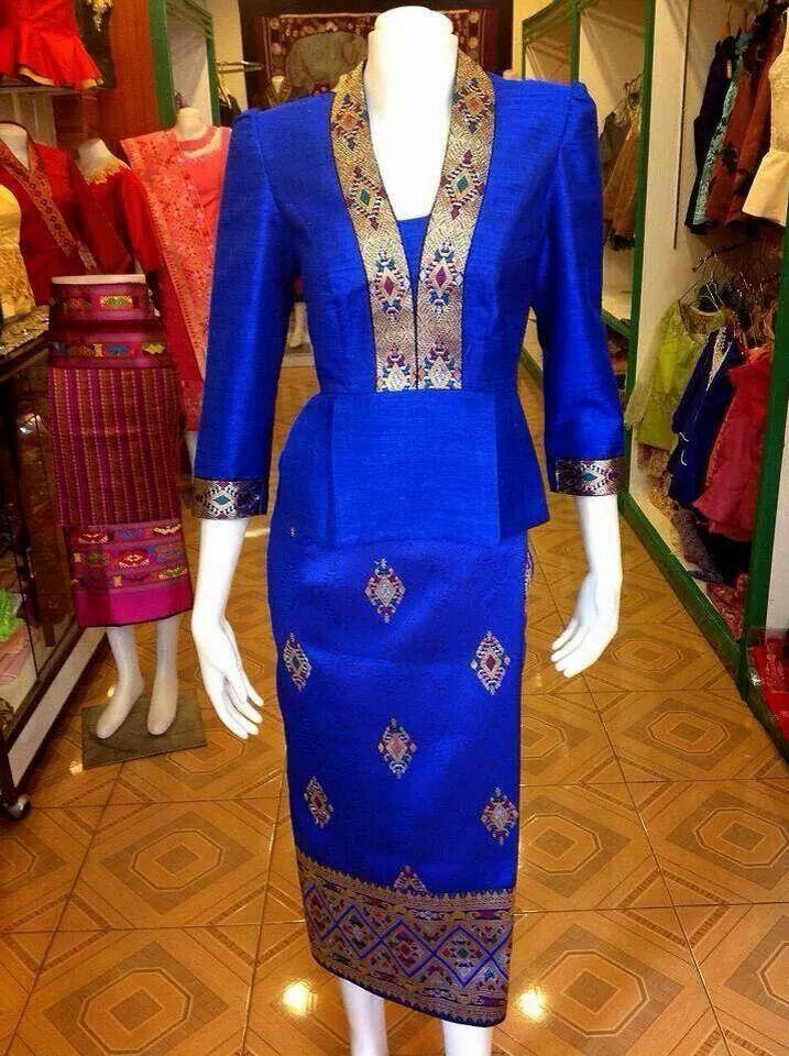 Sin Mia Silk Blouse Lao Fashion Dresses Silk Dress Blouse