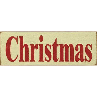 SawdustCity Christmas Textual Art Plaque