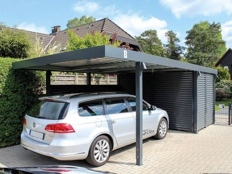 einzelcarports carceffo moderne carports garagen house pinterest carport garage und. Black Bedroom Furniture Sets. Home Design Ideas